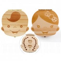 Cutie din lemn amintire - baietel