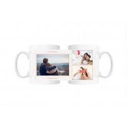 Cana personalizata cu 3 fotografii
