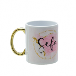 "Cana cadou cu mesaj ""Din cana asta bea doar Sefa"""