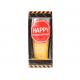 "Pahar pentru bere cu mesaj ""Happy f*king birtday"""