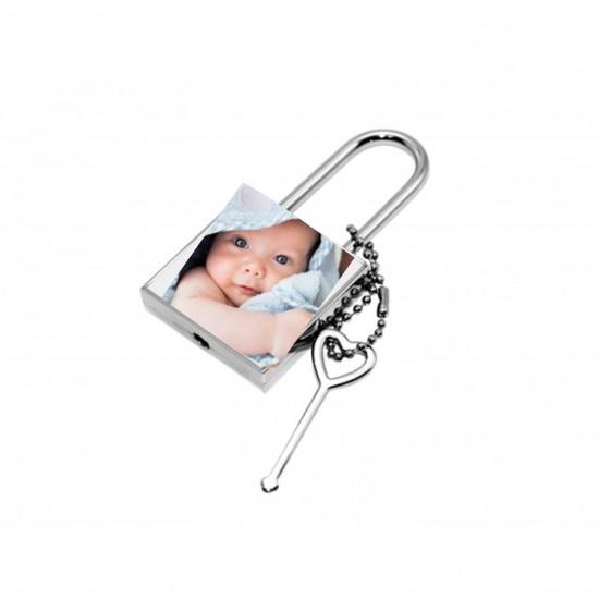 Lacăt personalizat cu fotografie sau mesaj
