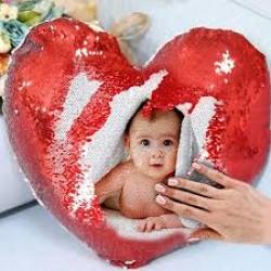 Perna personalizata Glitter inima