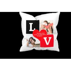 """Perna personalizata cu 2 fotografii """"Love"""""""