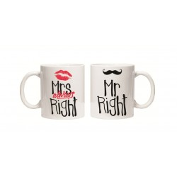 """Set cani """"Mr Right / Mrs Always Right"""""""