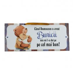 Plachet cu mesaj pentru cel mai bun bunic