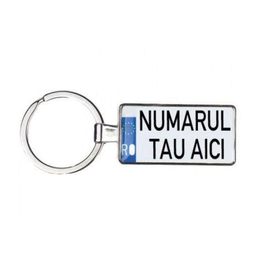 Breloc personalizat cu nr auto sau mesaj