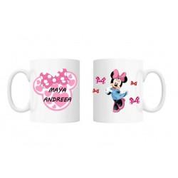 Cana personalizata cu nume pentru copii - Minnie Mouse, 300 ml