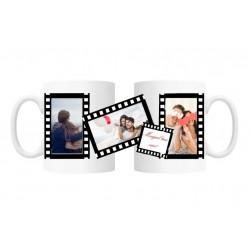 Cana personalizata cu 3 fotografii si mesaj, Rola film