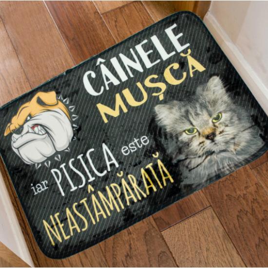 "Covoras din plus de interior ""Cainele si Pisica"""