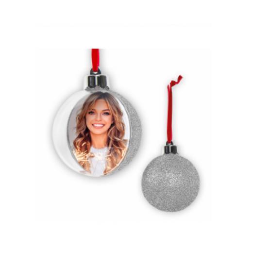 Glob personalizat cu spate argintiu 7,5 cm