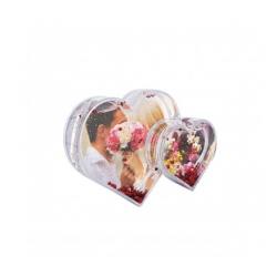 Glob inima dublu personalizat