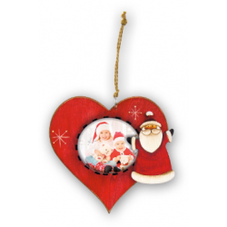 Decoratiune inimioara din lemn personalizata