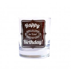 "Pahar Whisky cu mesaj ""Happy Birthday To You!"" 200 ml"