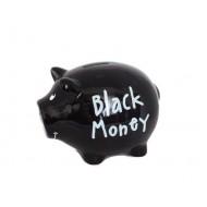 "Pusculita din ceramica in forma de porcusor ""Black Money"""