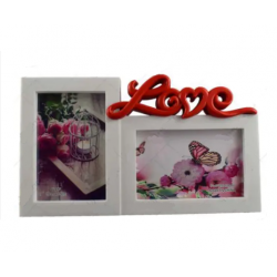 "Rama foto dubla cu mesajul ""Love"""
