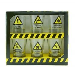 Set 6 pahare shot - Warning signs