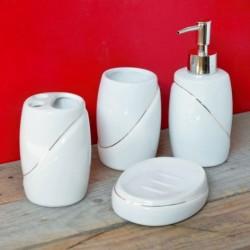 Set 4 accesorii pentru baie - alb