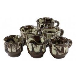 Set ceşti din ceramică, 6 bucăţi x 50 ml