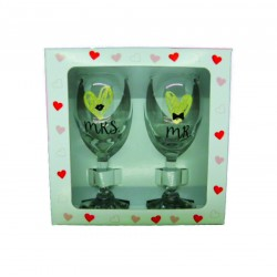 Set pahare vin Mr & Mrs
