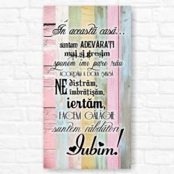 Tablou decorativ color cu mesaj